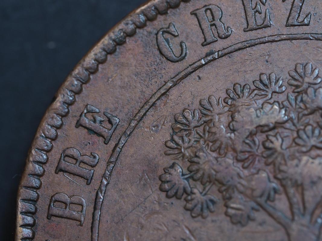 Honduras,moneda provisional de 8 pesos,1862. 1-3