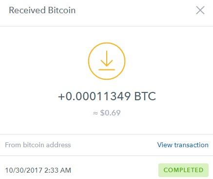 1º Pago de Cryptoclicks ( BTC 0.00011349 ) Cryptopayment
