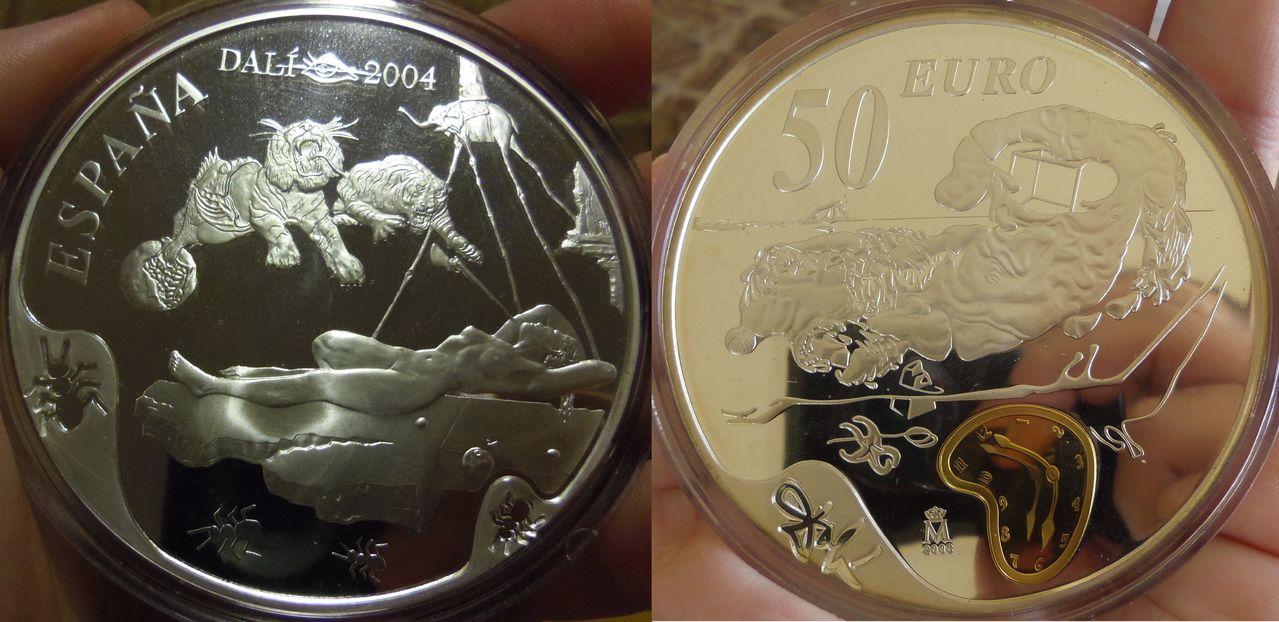 50 Euros. Juan Carlos I. Centenario Dalí 2004. Madrid. 2003. IMGP4460post