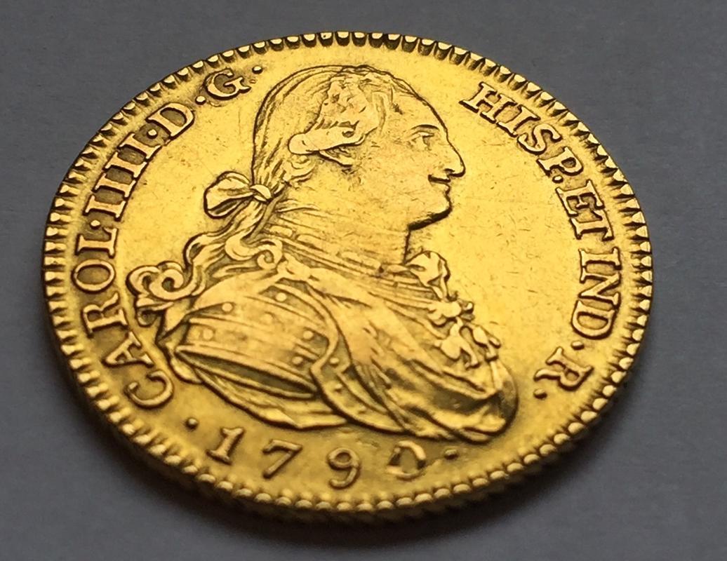 """2 escudos 1790 Carlos IIII Madrid dedit """"a los que me enseñaron todo lo que se"""" gracias  IMG_8263"""