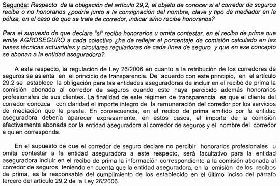 COMISIONES SEGUROS AGRARIOS Agroseguro