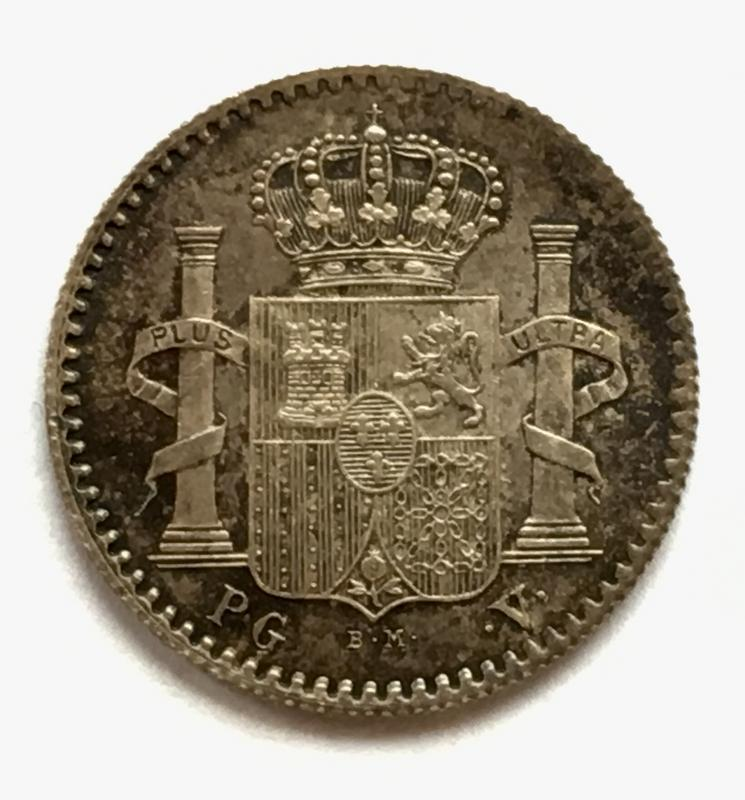 5 centavos 1896. Alfonso XIII. Puerto Rico. Fleky dedit. 79_D61_B16-90_F4-4_EA1-8_C13-2036_BB333258
