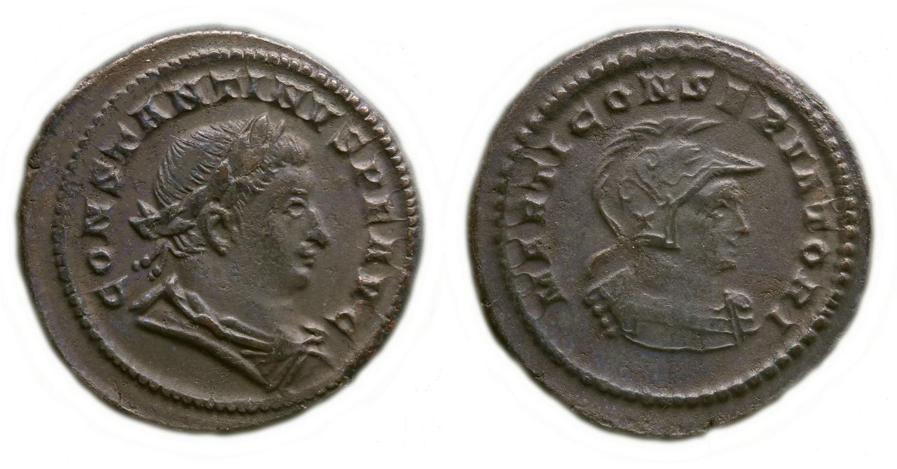 Nummus de Constantino I Magno. MARTI CONSERVATORI. Busto de Marte a dcha.Ceca Trier. 3496877