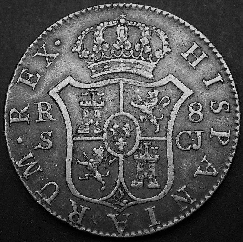 8 reales 1816. Fernando VII. Sevilla Image