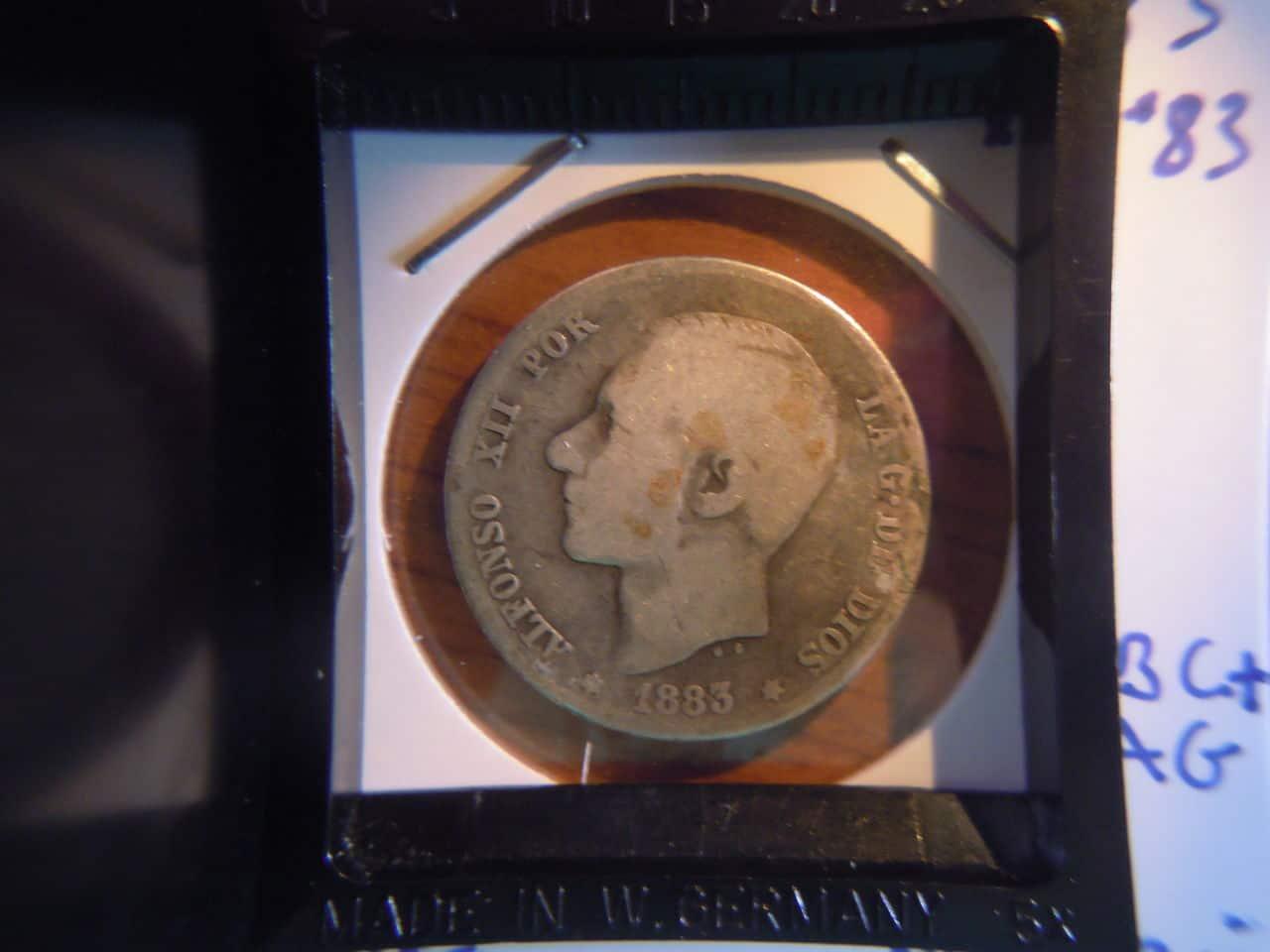 1 peseta 1883  Alfonso XII MSM Alfonso_XII_005