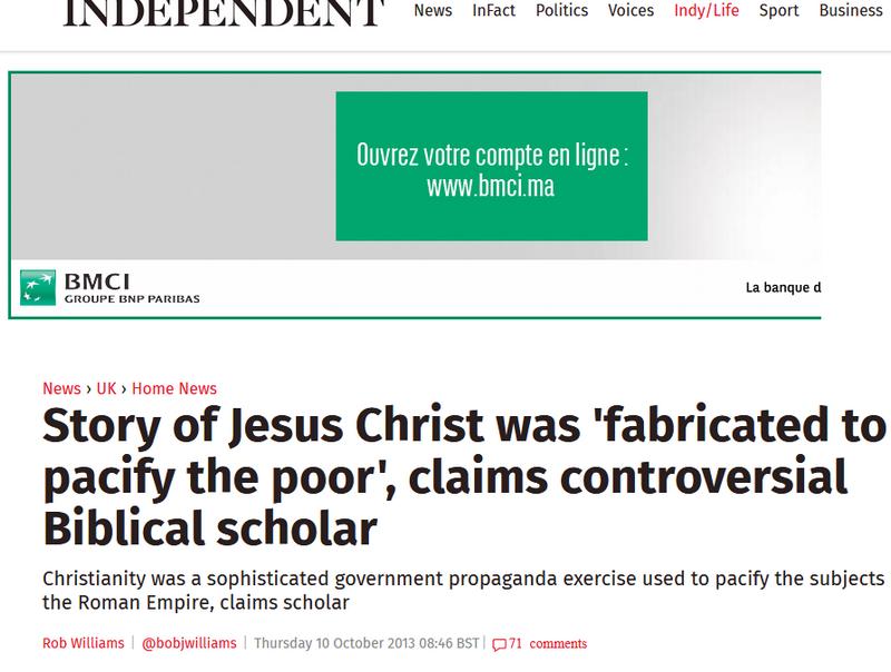 Jésus n'a jamais existé:UN MYTHE Image