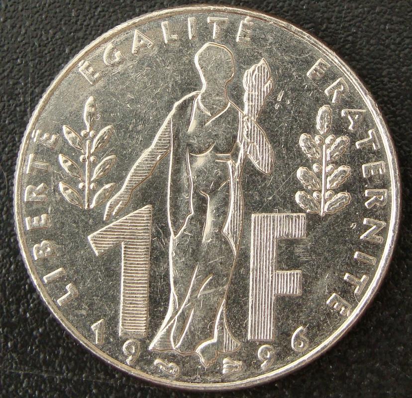 1 Franco. Francia (1996) Jacques Rueff FRA._1_Franco_Jacques_Rueff_-_rev