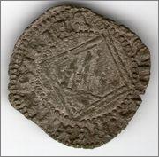Dinero de Pedro I de Castilla 1350-1368 Sevilla. Smg_667a