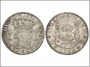 8 reales 1768. Carlos III, México MF 2826q