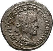 Tetradracma de Trajano Decio. Águila estante a dcha. Ceca Antioquía (Siria). 57-13