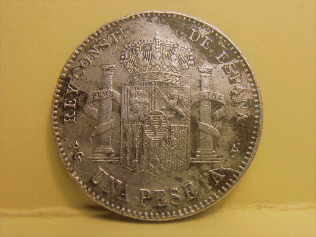 1 Peseta Alfonso XIII 1896 PA210009