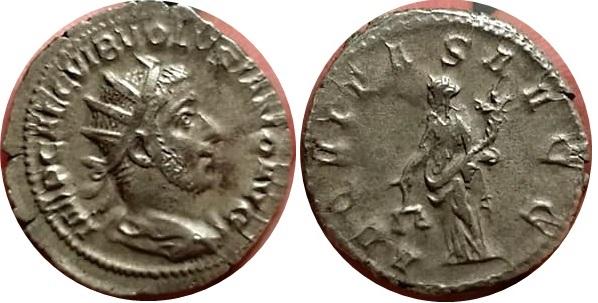 Antoniniano de Volusiano. AEQVITAS AVGG. Roma Volusiano_aeqvitas_avgg