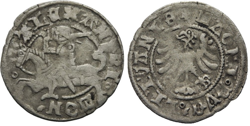 1/2 gros de Alejandro I Jaguellón. Vilna (Gran ducado de Lituania) Alexander_i_lituania