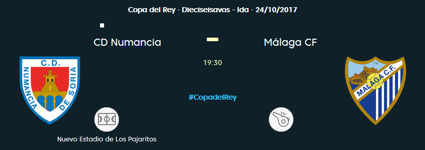 COPA REY 1/16 Ida: MALAGA CF vs CD NUMANCIA (Mar 28/Nov 19:30 / BeinSport) MCF_PARTIDO_1