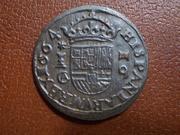 16 Maravedís de Felipe IV, de Cuenca, 1664. DSCN1885