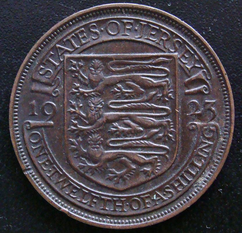 1/12  Chelín. Isla de Jersey (1923) GBJ._0_12_Chelines_1923_-_rev
