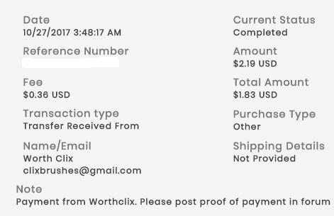 1º Pago de WorthClix ( $2,19 ) Worthclixpayment