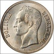 5 Bolivares 1935 Venezuela Image