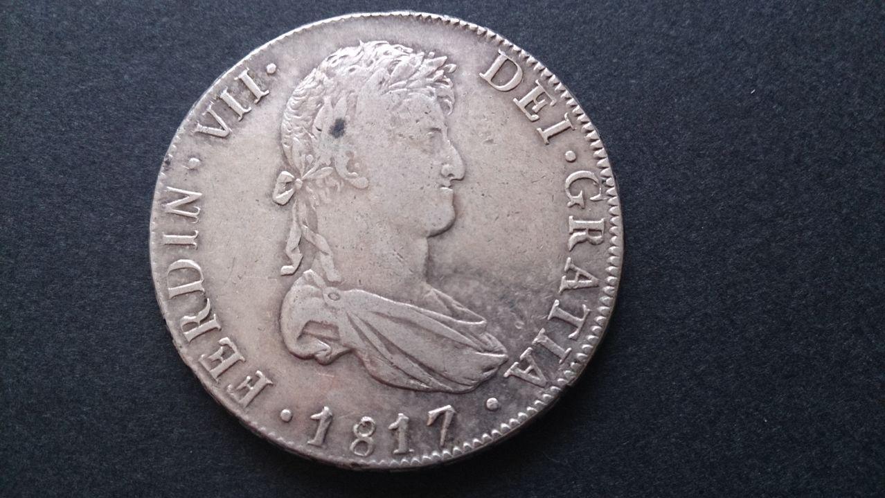8 reales Fernando VII 1817.  Potosi DSC_0390