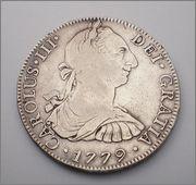 8  reales  de Carlos III. 1779  MEJICO -FF 1779