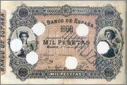 Los billetes españoles con mayor poder liberatorio  1875_1000ptas