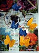 Скрапбукинг. Голубой мак, карандашница или декорваза для сухоцветов. 1_DSCF1963