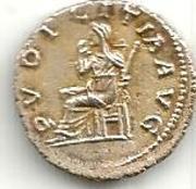 Reprodución denario de Julia Titi. Pudicitia_aa
