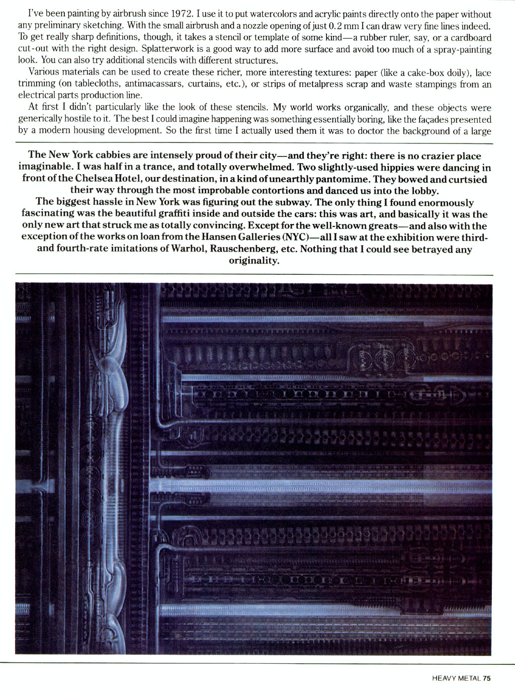 HEAVY METAL (June 1982) Blade Runner HRG_NYC3