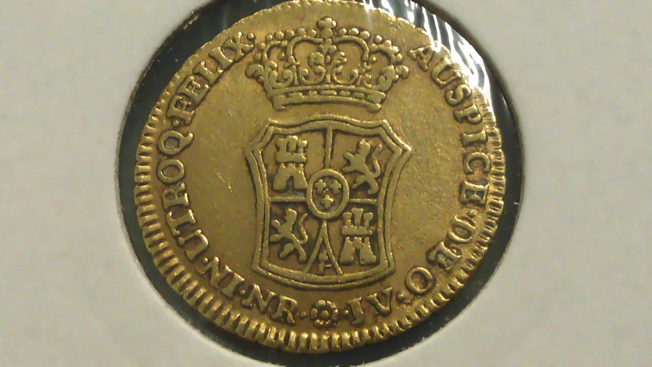 2 escudos 1764/3. Carlos III. Nuevo Reino. IMAG0491