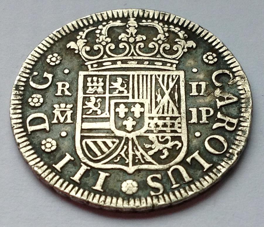 2 reales 1761 Madrid J.P.- Carlos III Image