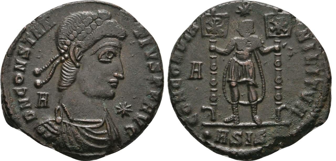 AE2 bárbaro a nombre de Constante I. CONCOP  M ΓLITVM. Limes del Danubio Constancio_ii_siscia