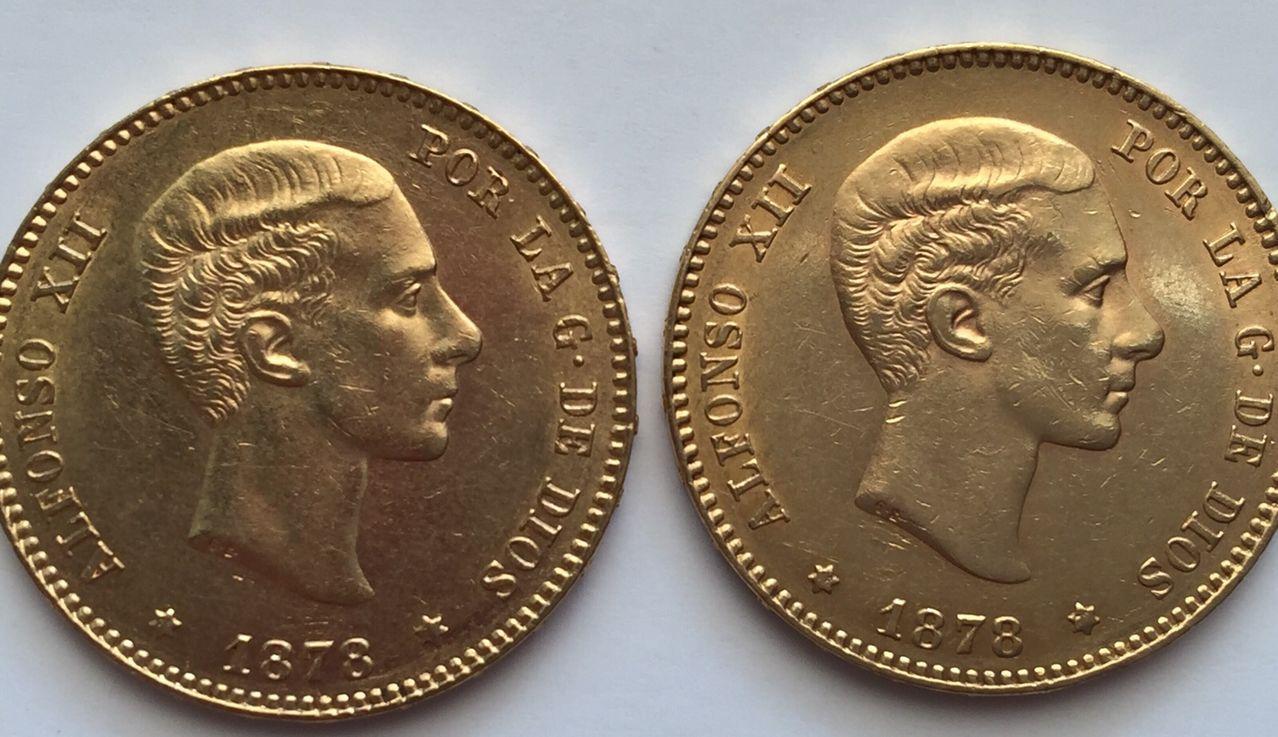 25 pesetas 1878 Alfonso XII variante anepigrafa IMG_6553