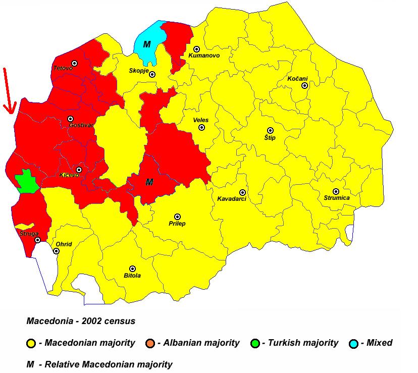 Pamja shqiptare e Maqedonise, dje, sot dhe neser Harta_6