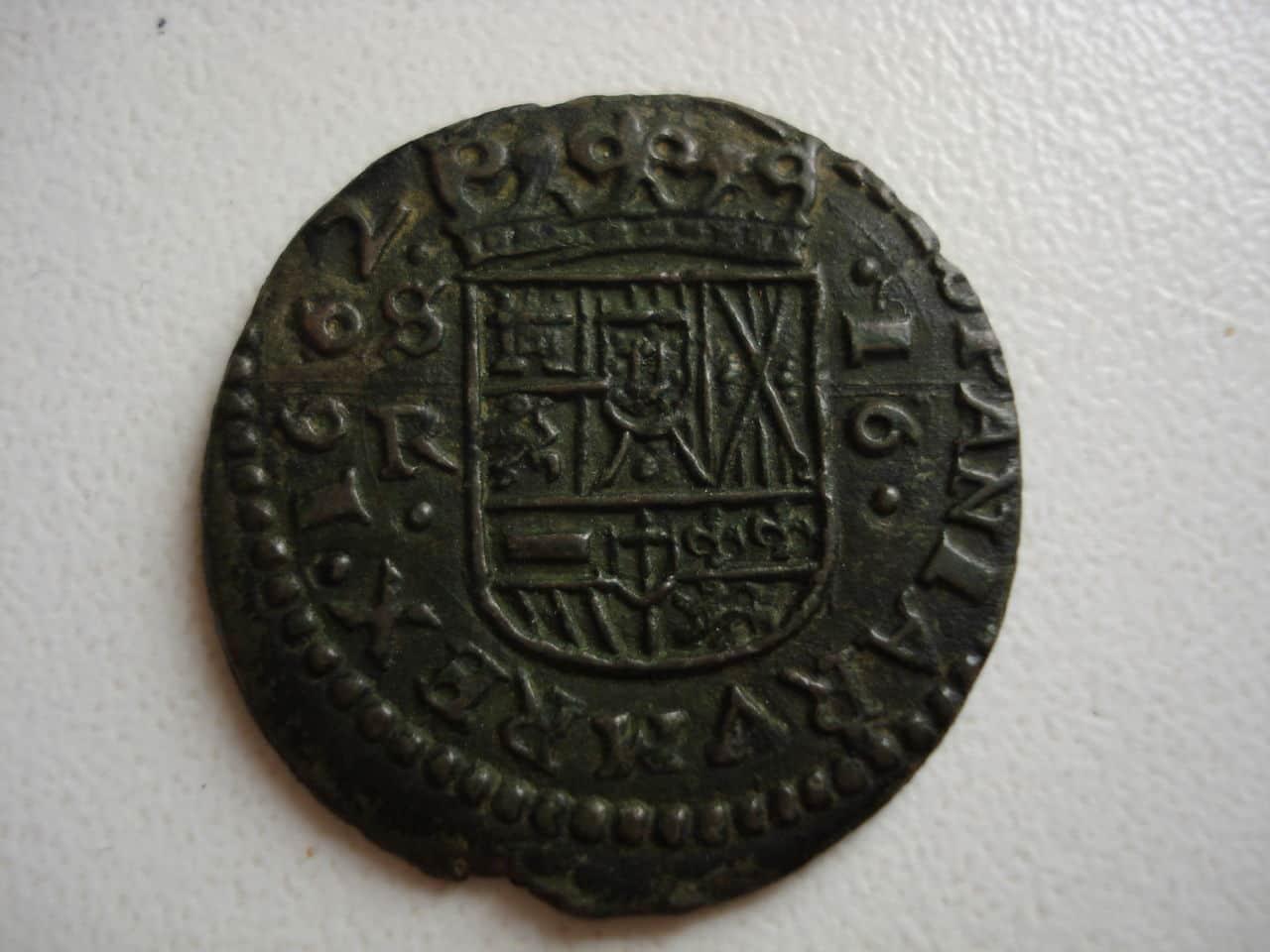 16 maravedís de Felipe IV, 1662, Sevilla. Monedas_020