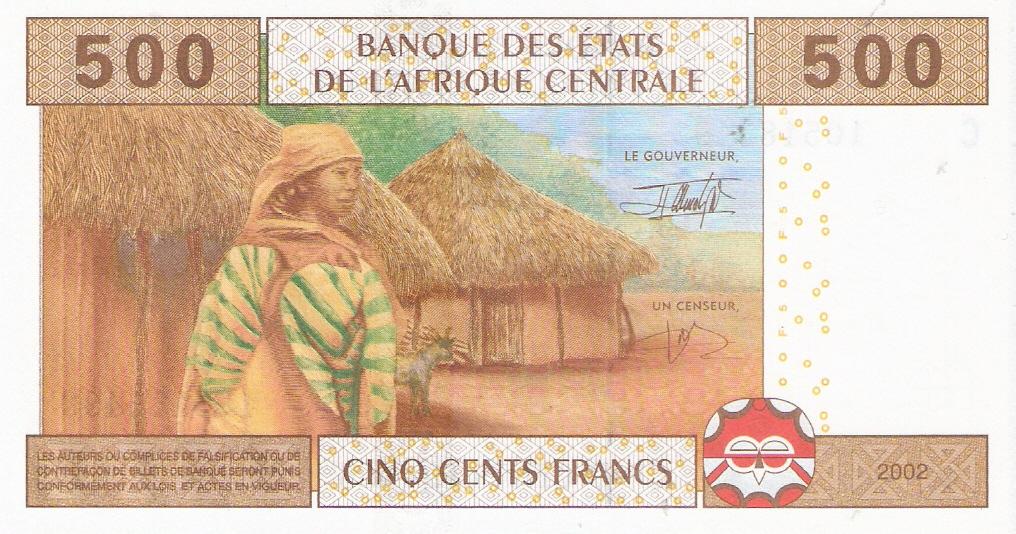Estados del África Central 500 Francos 2002 Escanear0004