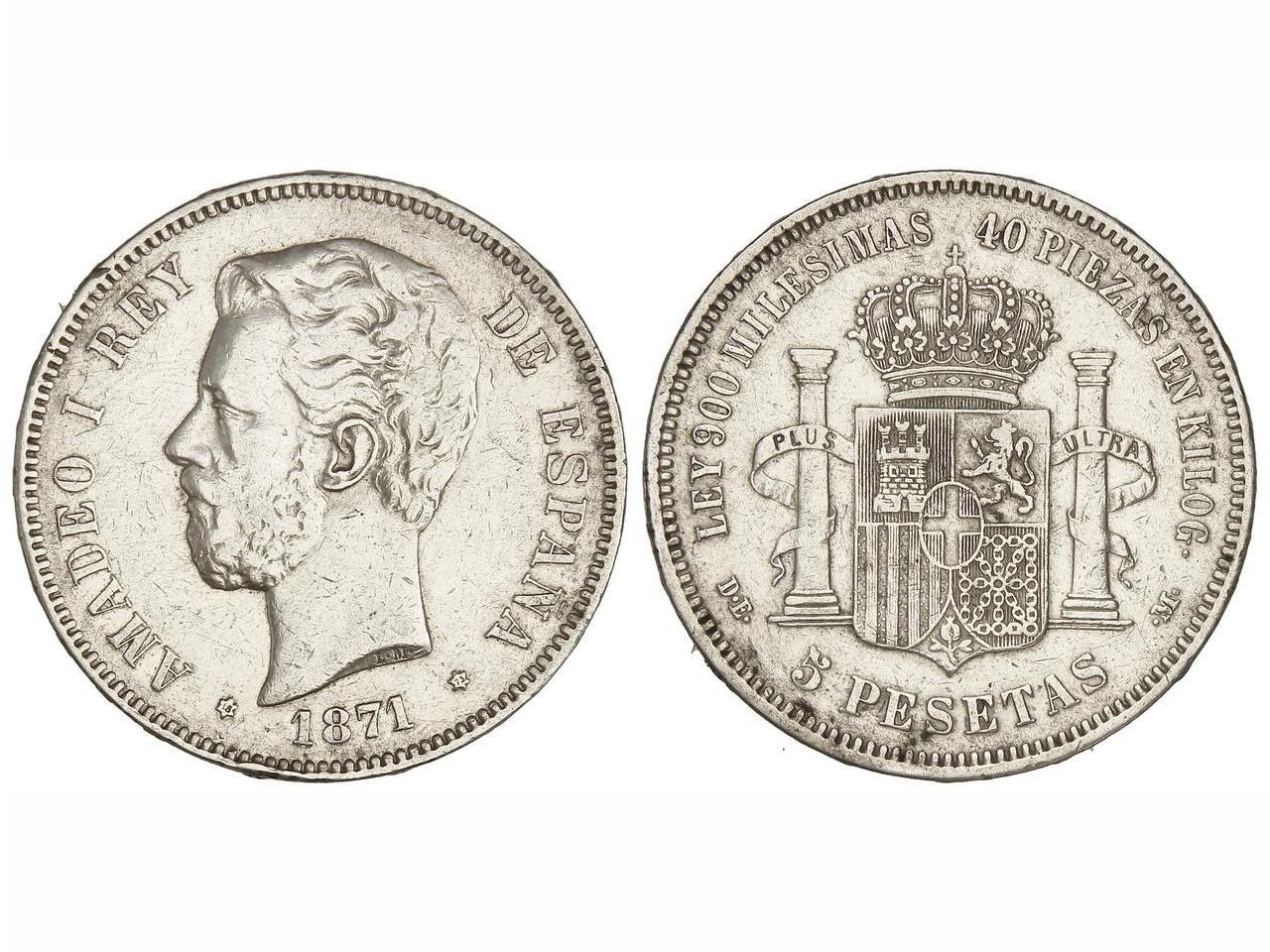 5 pesetas 1871 *73 - Amadeo I - La moneda de la discordia 5_peseta_1871_73_soler