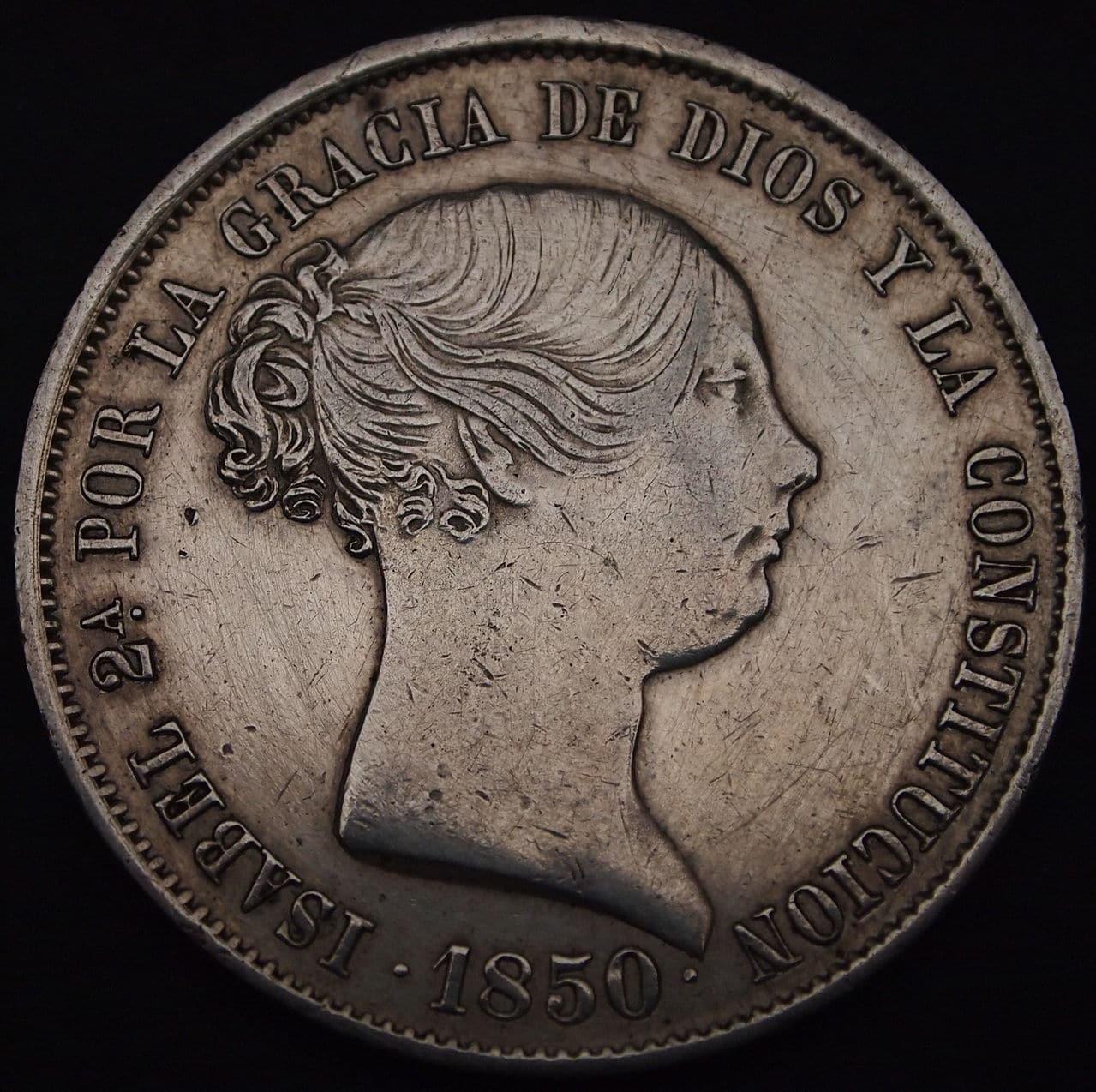 20 reales Isabel II 1850 1