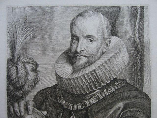 Grabado retrato de Ambrosio Spínola. c.1630. Autor Lucas de Vorsterman. Dedicado a Patricia 2803_9_3_1