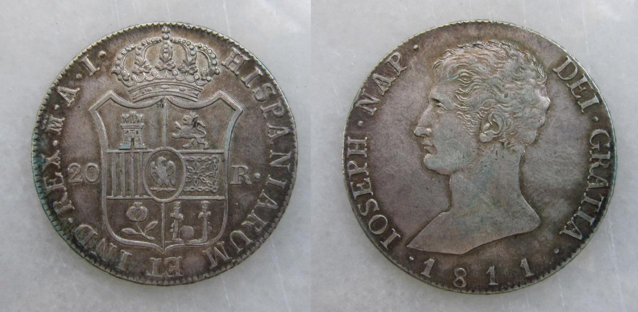 20 Reales 1811. José I Bonaparte. Madrid. 20_reales_Madrid_1811_Jos_Napole_n