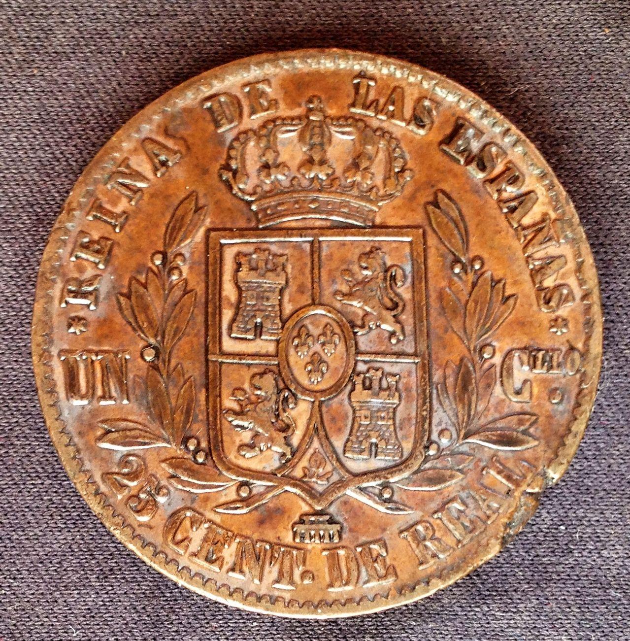 25 céntimos de real- un cuartillo 1855 Isabel II ¿error? IMG_4199