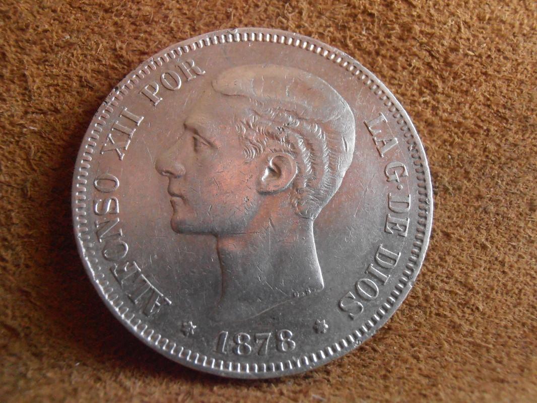 5 Pesetas 1878. Alfonso XII. EMM P3280005