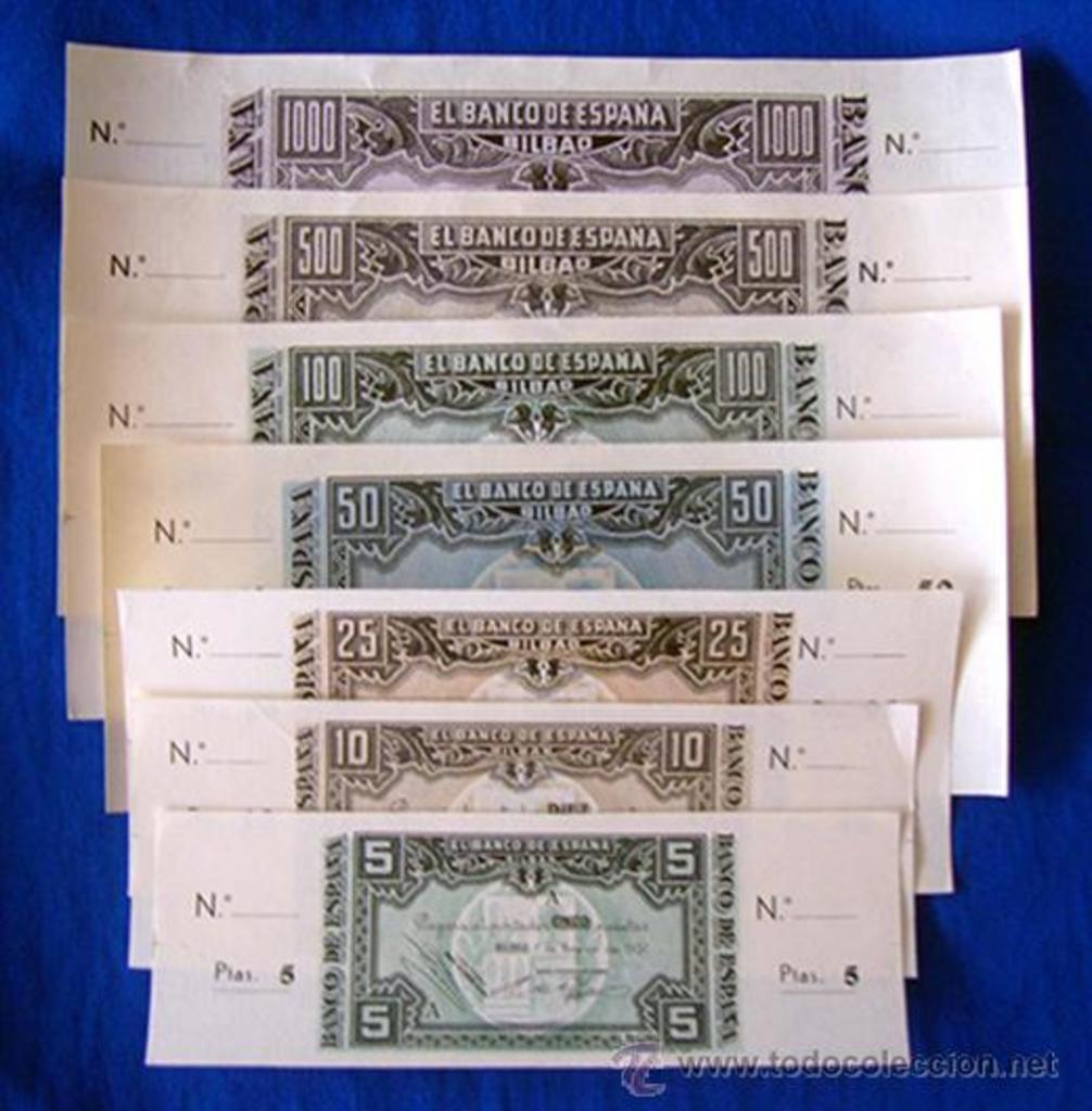 Billetes de Bilbao 1937 (serie completa con matrices) Billetes_37