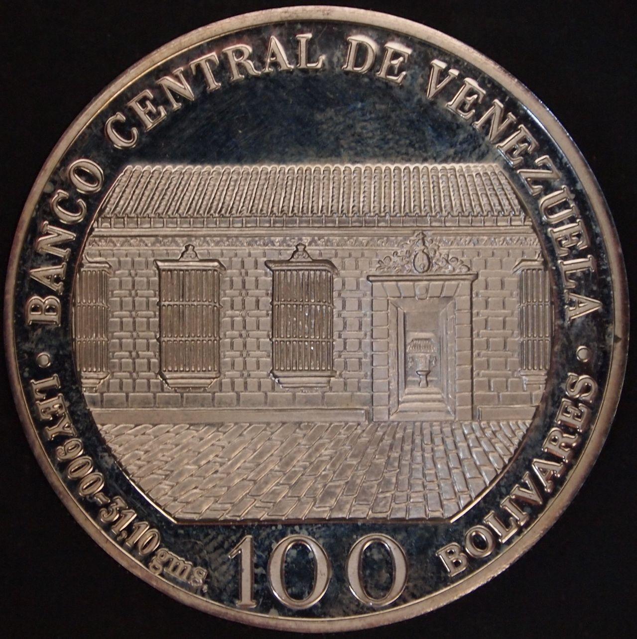100 bolivares 1983 Venezuela 2