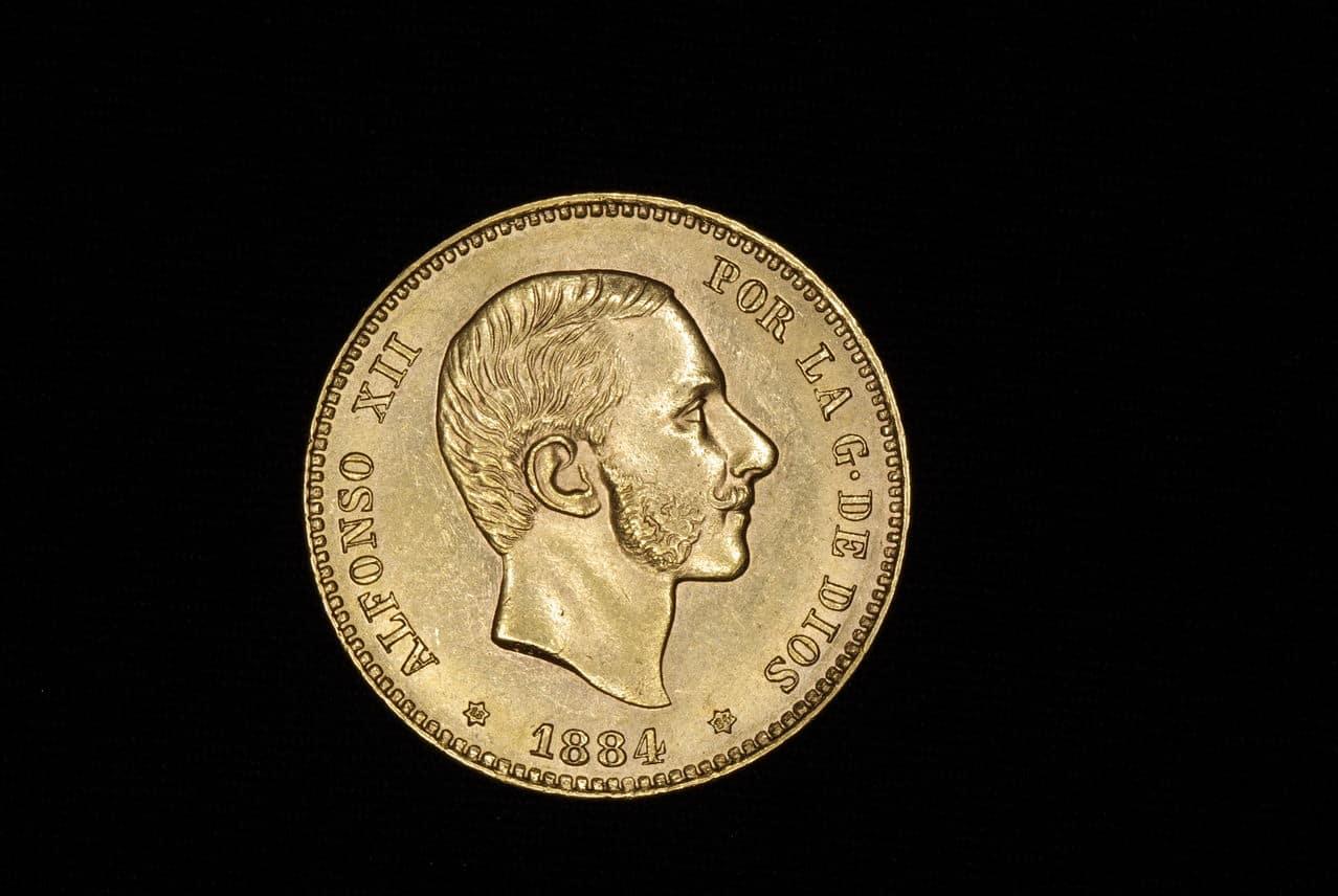 25 pesetas Alfonso XII 1884 Madrid Imagen_177
