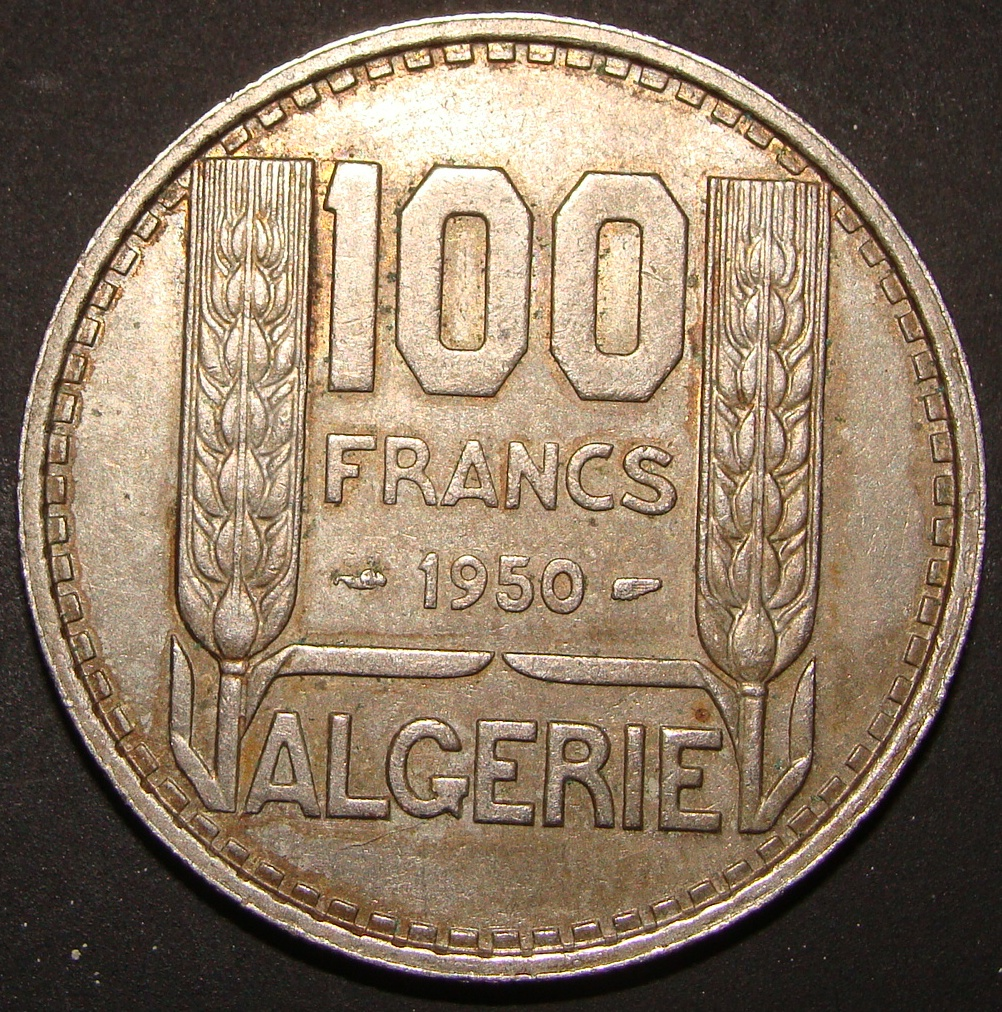 100 Francos. Argelia (1950) ALG_100_Francos_1950_rev