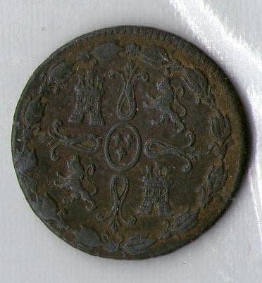 8 maravedis 1824 cruz