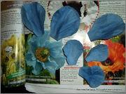 Скрапбукинг. Голубой мак, карандашница или декорваза для сухоцветов. 1_DSCF1923