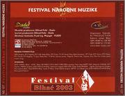 Bihacki festival - Diskografija 2003_u