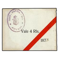 Billetes de Lucillo, 1873 (León) Vale_4_Reales_Asturias_1873
