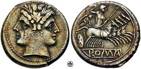 Denominación de monedas en la antigua Roma: La República. 0_cuadrigato